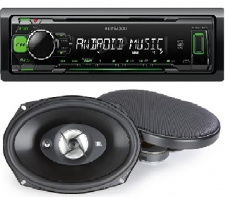 SET KENWOOD KMM-105+JBL STAGE 9603E